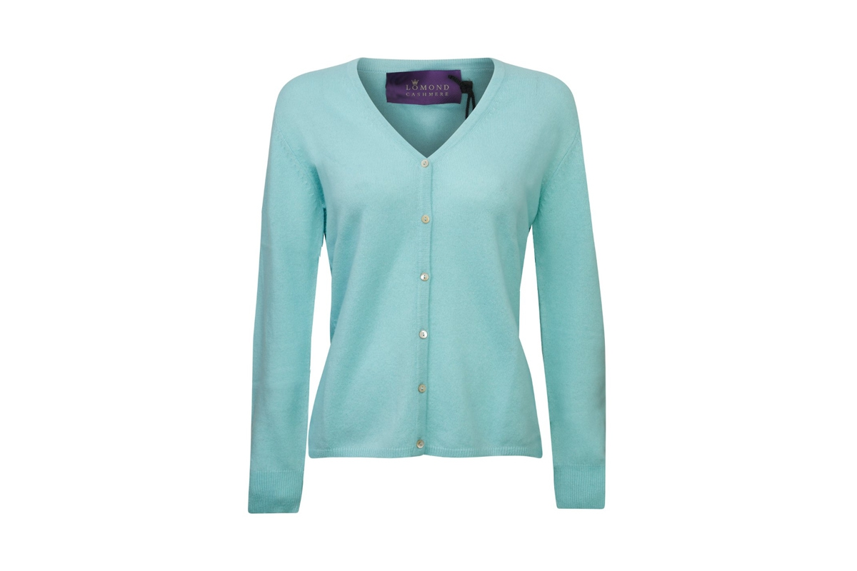 Lomond - Ladies Cashmere V Neck Cardigan