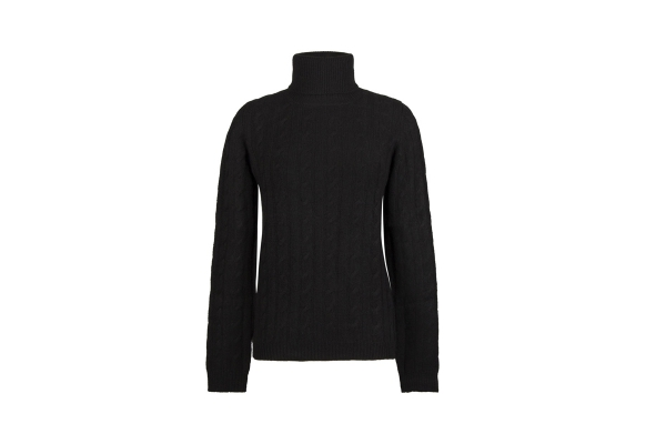 Lomond - Ladies Cashmere Cable Polo Neck